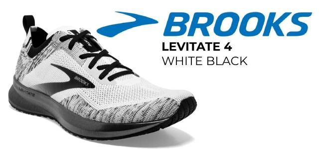 BROOKS LEVITATE 4 WHITE BLACK