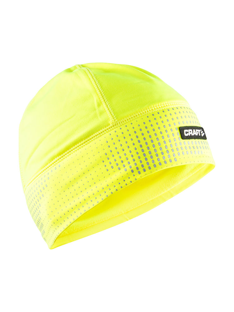 CRAFT BONNET THERMAL BRILLANT 2.0 JAUNE FLUO REFLECHISSANT  Bonnet sport