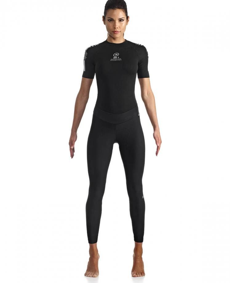 ASSOS HL TIBURU TIGHTS S7 LADY BLACK Cuissard long  vélo femme