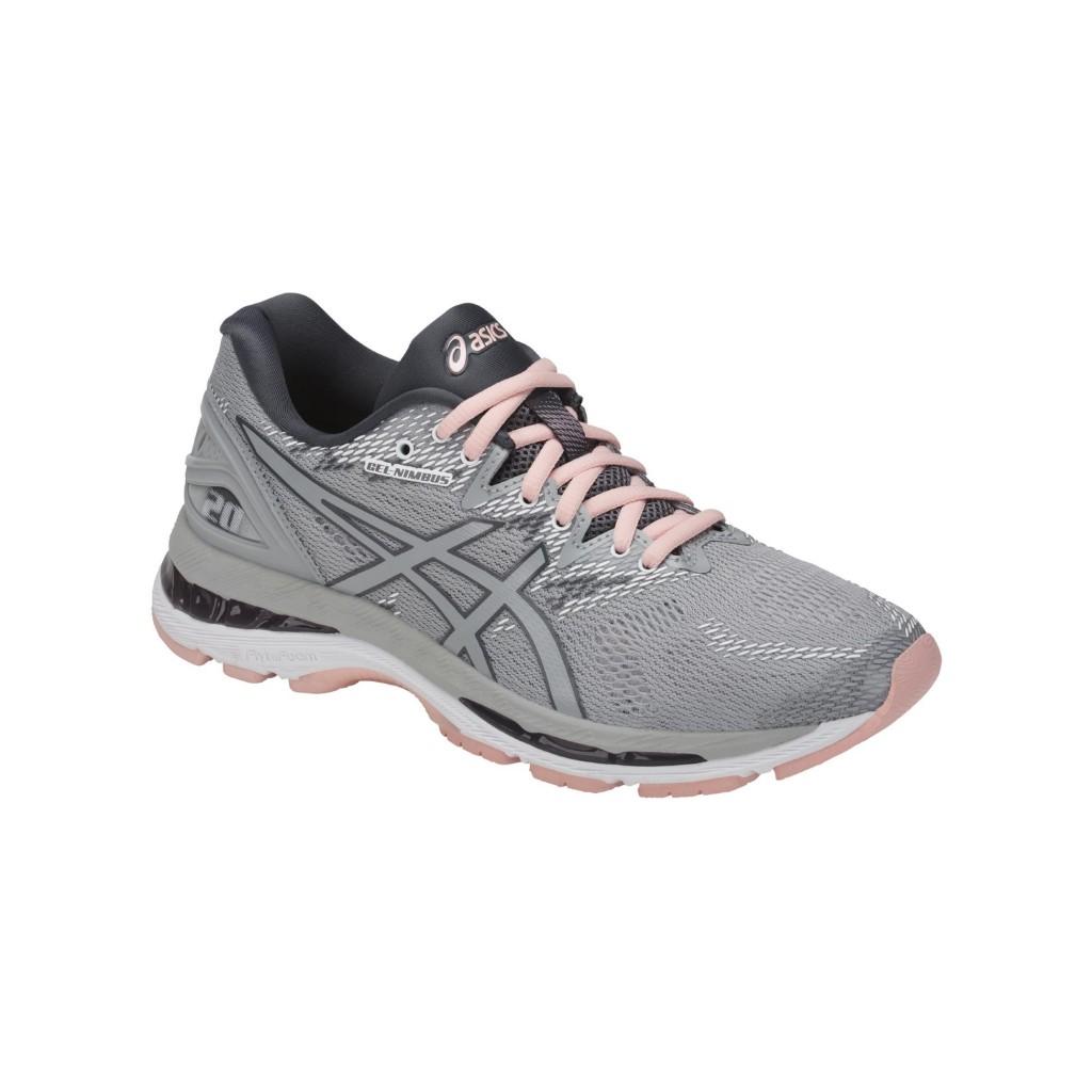 ASICS GEL NIMBUS 20 GRISE ET ROSE chaussure running asics femme