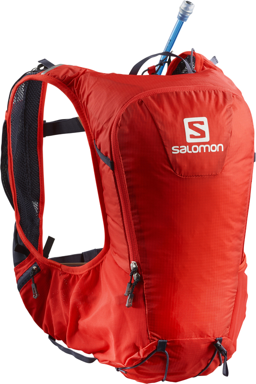 SALOMON SKIN PRO 10 SET FIERY RED  Sac à dos salomon Running