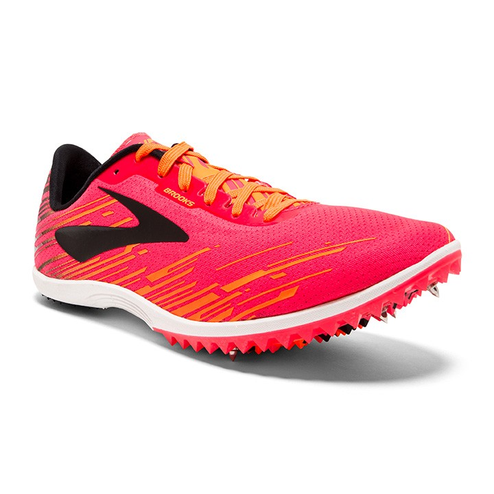 BROOKS MACH 18 ROSE ET ORANGE  Pointes Cross ou Piste