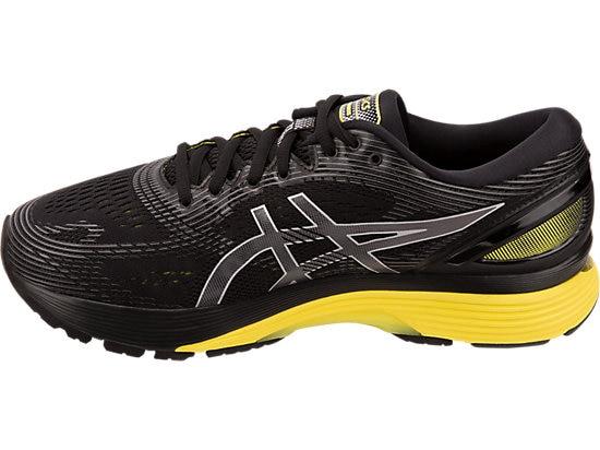 ASICS GEL NIMBUS 21 NOIRE ET JAUNE chaussure running asics