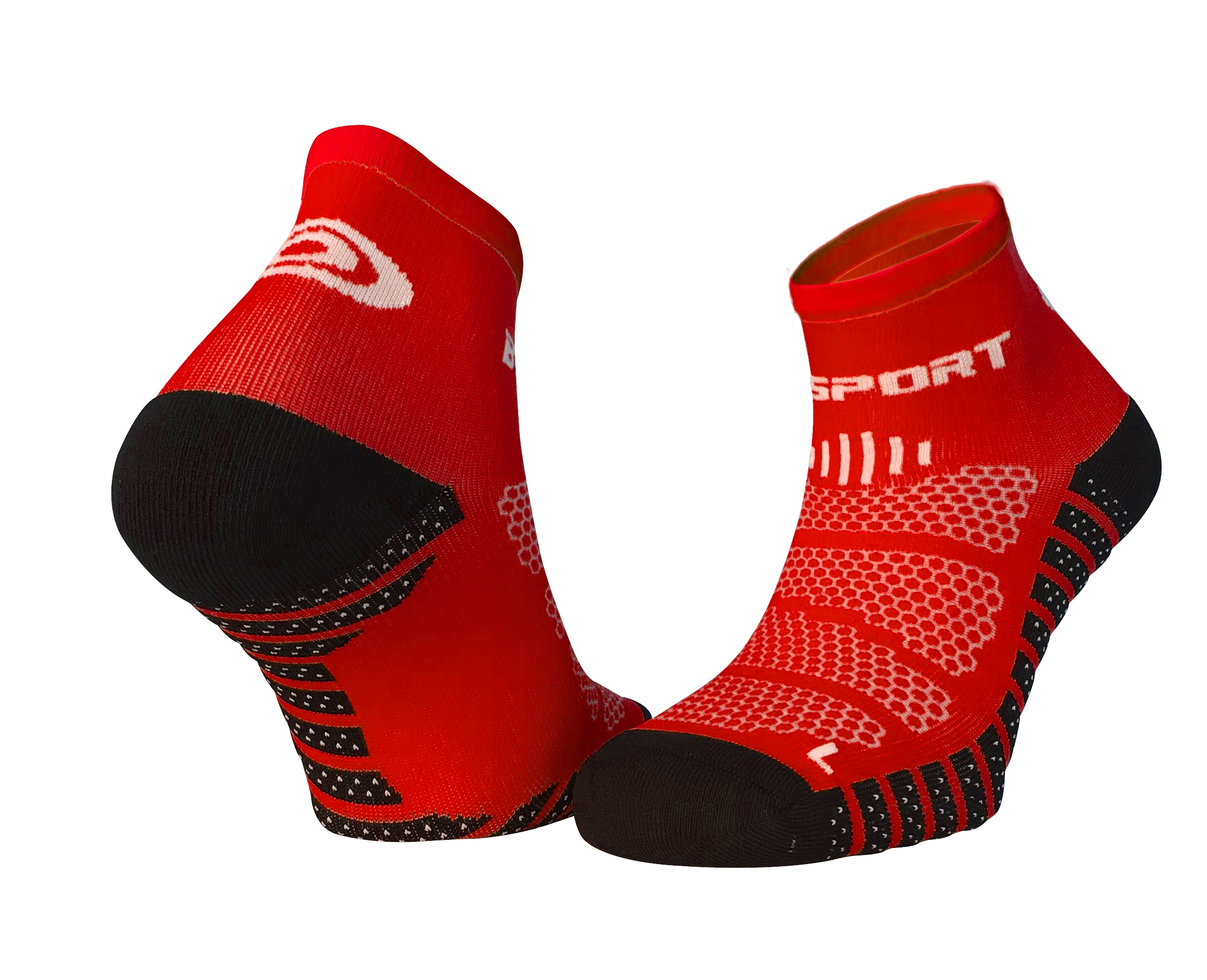 BV SPORT SOCQUETTES SCR ONE EVO ROUGES Chaussettes Running BV Sport