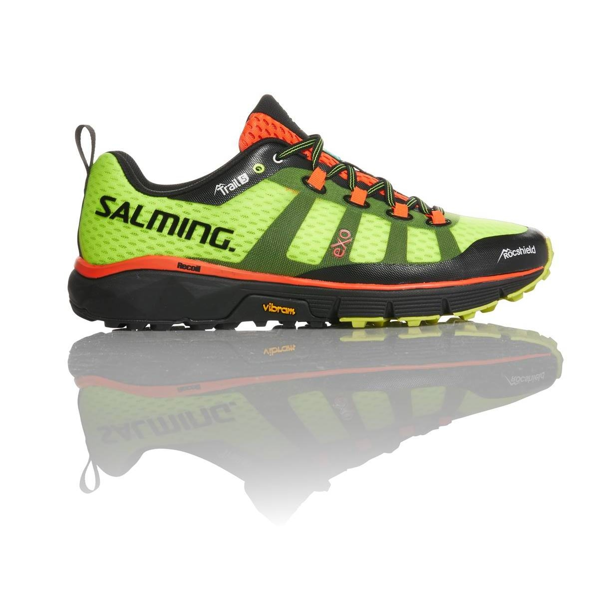 SALMING TRAIL 5  JAUNE FLUO chaussure de  trail homme