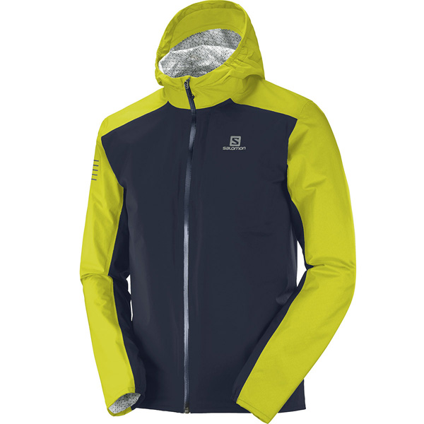 SALOMON VESTE BONATTI WP NIGHT ET CITRONELLE Veste running étanche