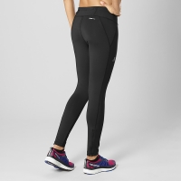 SALOMON AGILE LONG TIGHT W NOIR Collant running femme pas cher