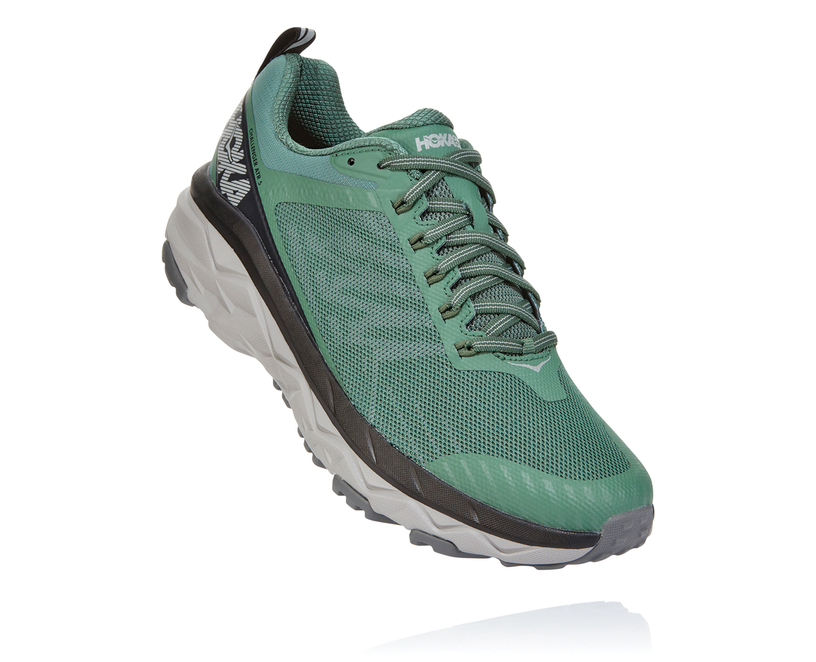 HOKA ONE ONE CHALLENGER ATR 5 WIDE VERTE Chaussures de Trail pieds larges