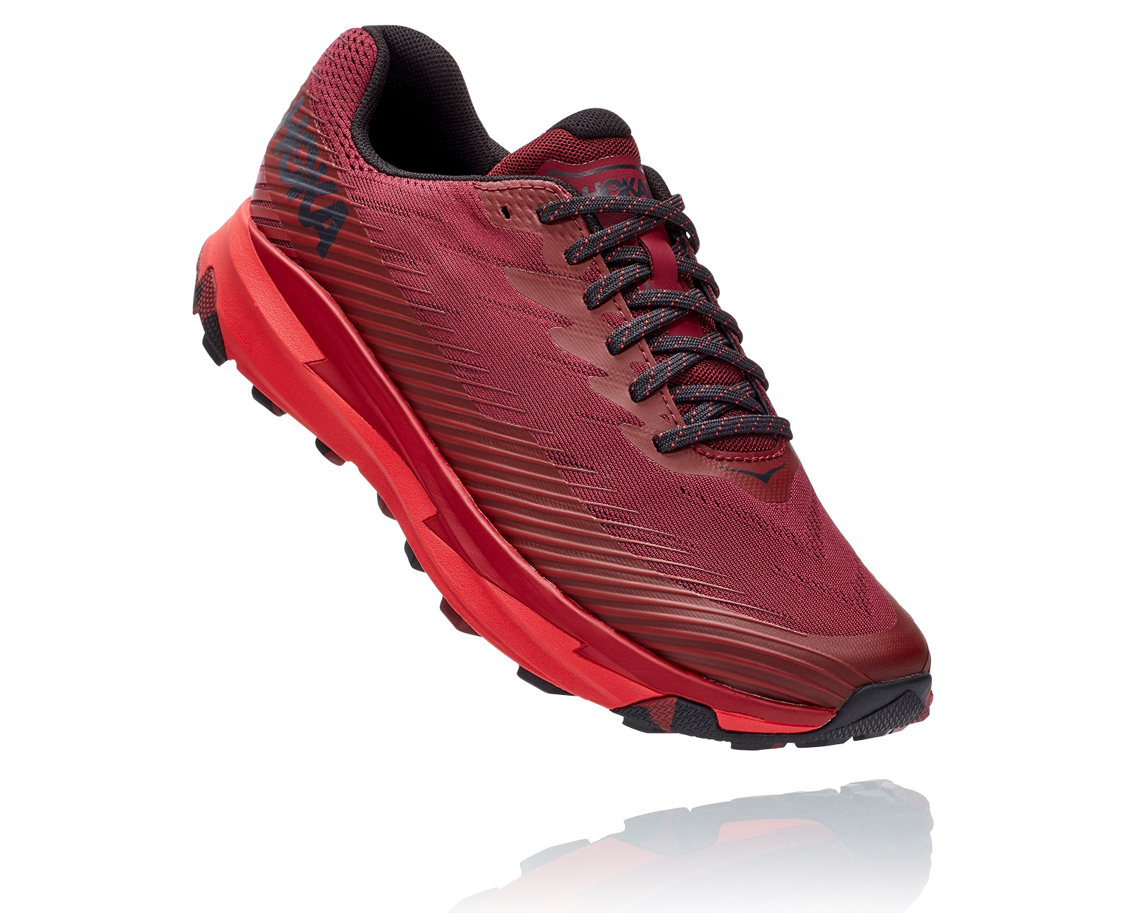 HOKA ONE ONE TORRENT  2 ROUGE   Chaussures de Trail