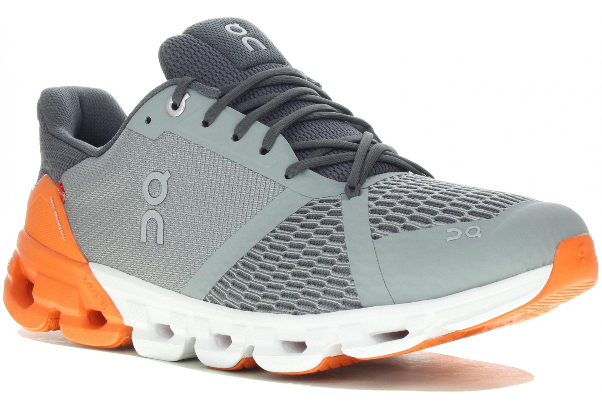 ON RUNNING CLOUDFLYER GRISE ET ORANGE  Chaussures de running