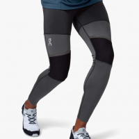 ON RUNNING TIGHTS LONG M BLACK SHADOW Collant de running pas cher