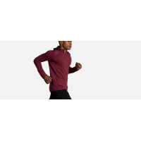 BROOKS NOTCH THERMAL HOODIE MERLOT  Maillot manches longues chaud pas cher
