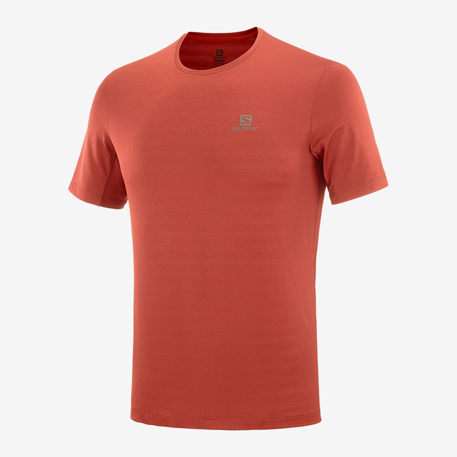 SALOMON XA TEE ROUGE  Tee shirt de running