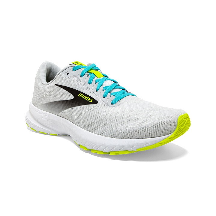 BROOKS LAUNCH 7 BLANCHE ET JAUNE FLUO Chaussures de running brooks