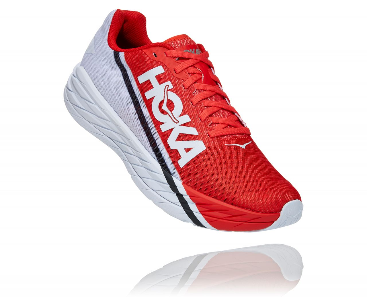 HOKA ONE ONE ROCKET X  ROUGE FIESTA  Chaussures de running