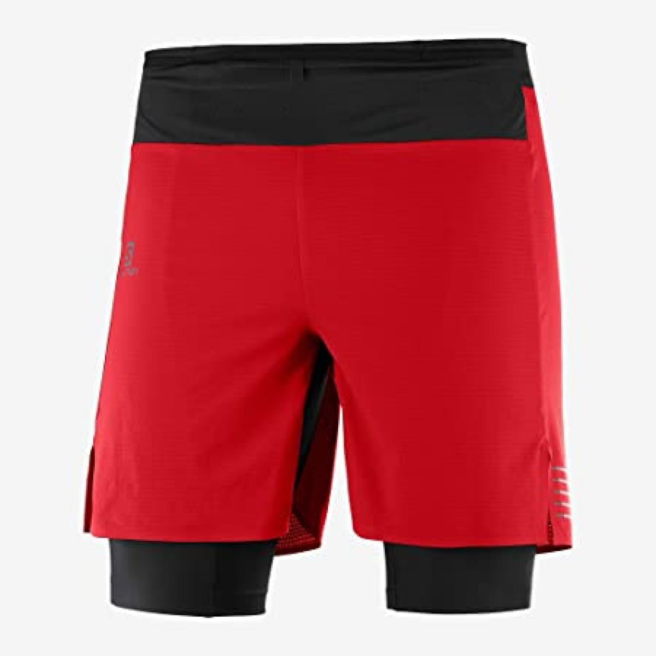 SALOMON EXO TWINSKIN SHORT ROUGE  Short Running 2 en 1